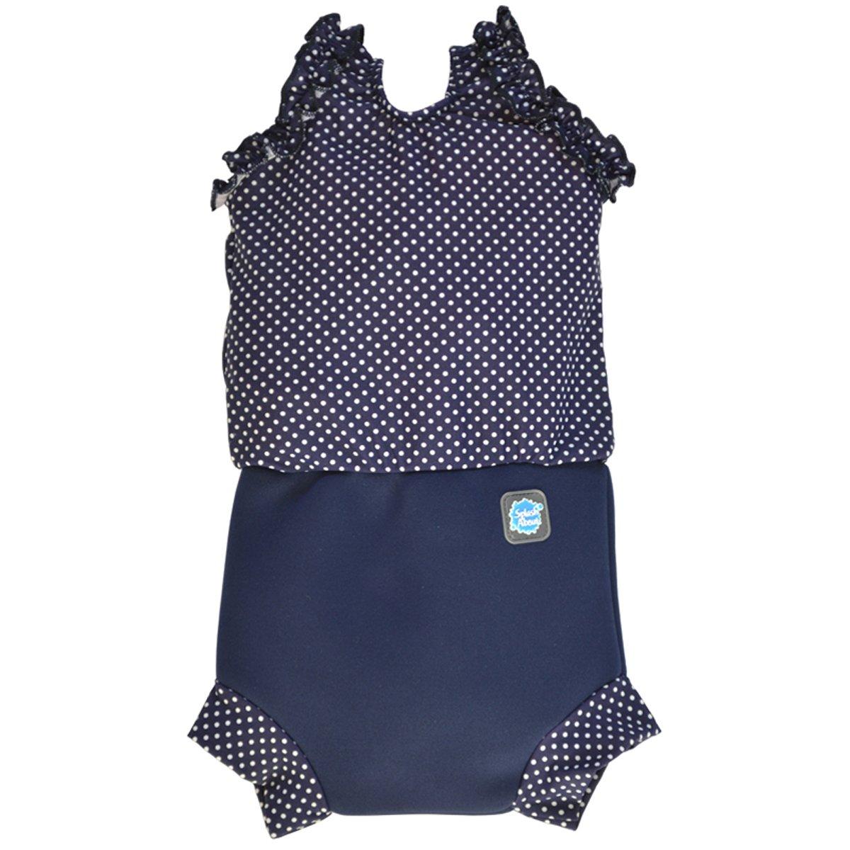 Splash About - Costume da bambina con inserto assorbente tipo pannolino, Uomo, Navy/White, M