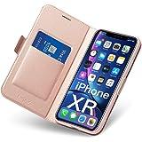 Coque iPhone XR, Ultra Mince Portefeuille, Emplacement Carte, Fermeture Magnétique, Rabat Flip Case, Clapet Folio Étui, Cuir