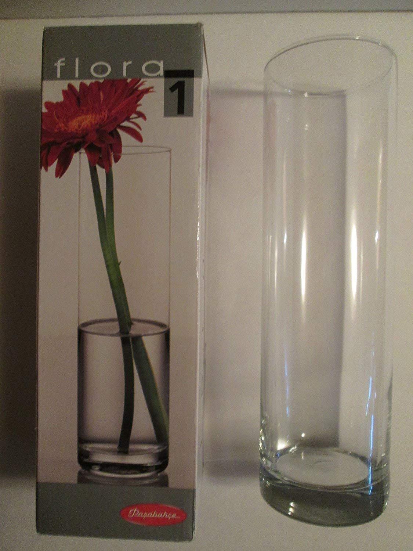 Pasabahce 43767 – Flora Jarrón de Cristal, cilíndrico, 26,5cm.