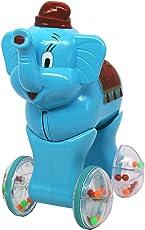 Vivir Elephant Push and Go Toys (2 Year, Blue)