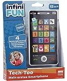 Kurio DES12550 Tech-Too Mein erstes Smartphone, Kindertelefon mit 4 Spielmöglichkeiten, Zahlen 1-6 und Sound, weißes…