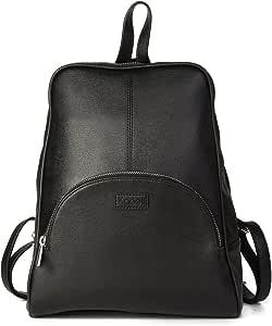 Kadell Frauen Leder Rucksack Schultertaschen Reisetasche Satchel Teenager Schule Taschen Schwarz