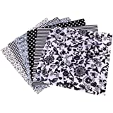 SUPVOX 7Pz di Tessuto Artigianale in Cotone a Quadretti Patchwork Lanugine Motivo Floreale per Cucito Fai da Te Trapuntatura