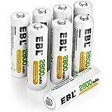 EBL 1.2V AA Batterie Ricaricabili con 1200 cicli, Pile Ricaricabili da 2800mAh Ni-MH con Comodo Astuccio, Confezione da 8 pez