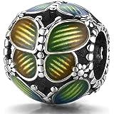 ZiFouDou Charms Compatible Bracelets Pandora&Chamilia,Breloques Européens et Pendant en 925 Argents- Jardin Secret