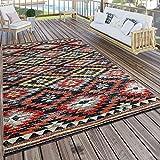 Paco Home in- & Outdoor Teppich Modern Zickzack Muster Terrassen Teppich Wetterfest Bunt, Grösse:60x100 cm