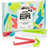 com-four® 36x Clips de Fermeture en Plastique - Clips de Fermeture de différentes Tailles et Couleurs - Clips pour…