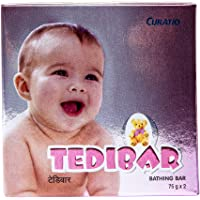 Tedibar Baby Bathing Bar | For Baby's Sensitive Skin | Gentle Cleansing, Skin-friendly, pH 5.5, 75gm, Pack of 2