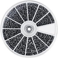 600Pz 12 Tipi di Piccole Viti Bulloni Assortimento in Acciaio Inox per Orologi Bicchieri M1 M1,2 M1,4 M1,6, Filettatura…