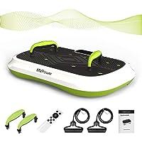 MVPower Fitness Ultraflache Vibrationsplatte mit leisem Motor, LCD Display, Lautsprecher mit Bluetooth |5…