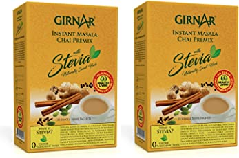 Girnar Instant Premix Masala Chai with Stevia Pack of 2