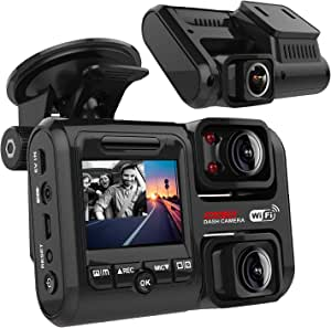 Pruveeo D30h Dash Cam With Infrared Night Vision And Wifi Dual 1080p Front And Inside Dash Camera For Cars Uber Lyft Truck Taxi 6 5 X 5 X 3 Inches Navigation Car Hifi