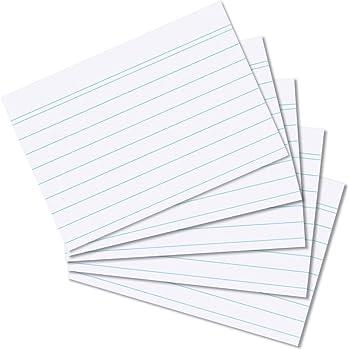 1000 Karteikarten in A8 weiß liniert von Herlitz