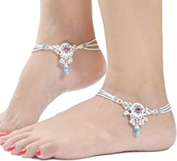 Charms Anklet for Women (Silver)(ANK174)
