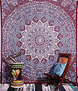 Handicrunch Hippie, psychédélique étoiles Mandala indien Tapisserie Indien Couvre-lit Wal...