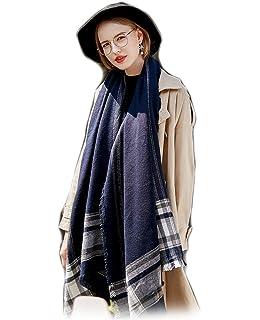 2d41aacc57d8 Femme Fille Tartan carreaux plaid rayée rayures Extra Longue extra large Écharpe  Wrap Châles Etole Glands