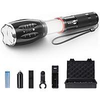 Torcia LED Potente, XML-T6 Torcia LED Militare Tattica, Torcia Elettrica Ricaricabile Magnetica COB con Ricaricabile…