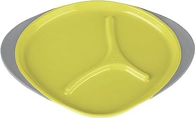 b.Box Plate, Lemon Sherbet/Yellow/Grey, One Size