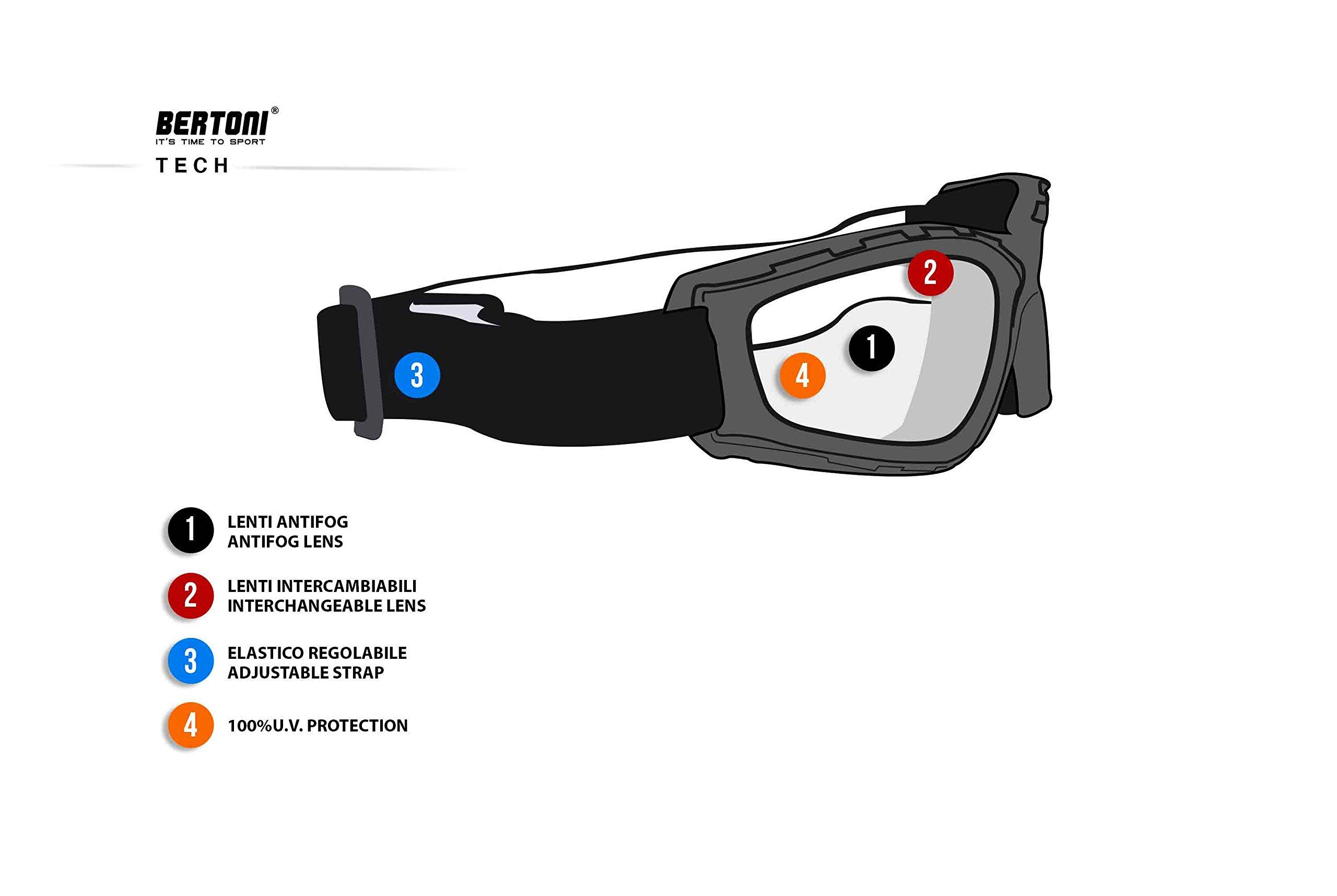 Masque moto Bertoni AF120b Noir 5