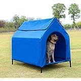 Amazon Basics, Cuccia per animali domestici, sopraelevata, portatile - misura L, blu