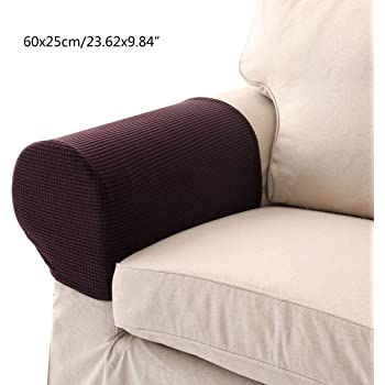 UMIWE Set of 2 Stretch Armrest Covers Spandex Polyester Arm Caps for Armchairs  Sofa Chair Couch Stretchy Arm Slipcovers for Furniture Protector (1 pair) 911d4a9811