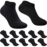 10 Pairs Women's Trainer Socks, Tmani Short Mens Socks Breathable Cotton Ladies Ankle Socks Low Cut Leisure Business Gift Soc