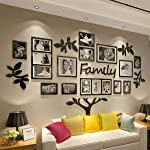 CrazyDeal Family Tree Picture Frame Collage 3D DIY Stickers Wall Art for Living Room Home Decor Gallery Large
