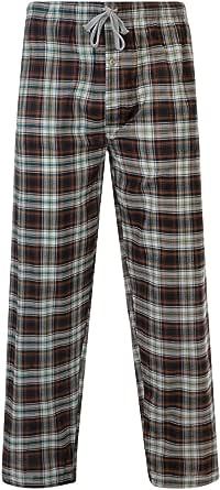 Mens Pyjama Bottoms Woven Cotton Check Lounge Pants Random Pick