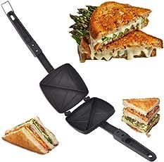 JBS Enterprises Stainless Steel Non Stick Griller Bread Toast Sandwich Maker (Black)