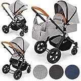 Froggy Kinderwagen BACIO Kombikinderwagen Sportwagen Buggy Kinderwagenset 2 in1 mit Babywanne und Sportsitz Verschiedene Farben