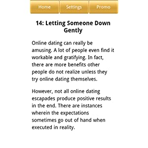 How to let someone down gently online dating