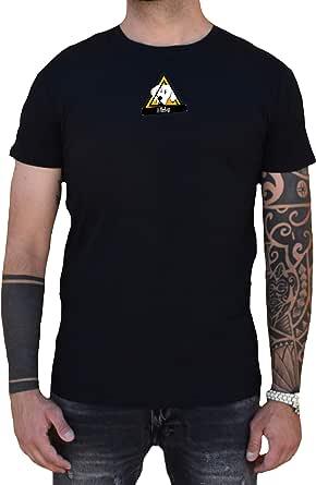 Wiledog T-Shirt Nera Basica vestibilità Normale Logo Centrale