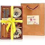 Saflyse - Style Japonais - Set service à sushis pour deux personnes - 6pièces (Sets de table marron non inclus - Couleur alé