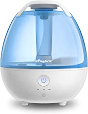 Ultrasonic Cool Mist Humidifier - Anypro Mist Humidifiers for Bedroom Ultra Quiet Air Humidifiers with 6 Optional Night Lights Multi Mist Modes Cool Mist Humidifiers for Baby Home, Filter Free