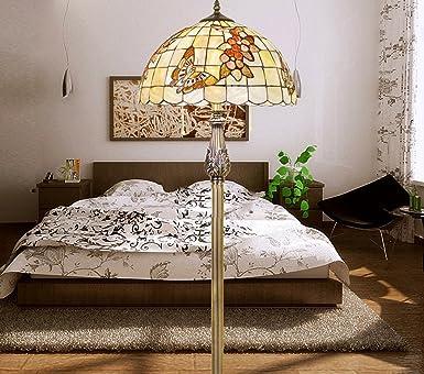 Kirsch Schmetterling Shell Stehleuchte Im Europischen Stil Garten Zimmern Mediterranen Bar Wohnzimmer Lampe Lampen Amazonde