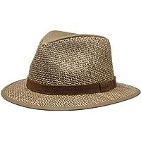 Stetson Medfield Seagrass Cappello Uomo - di Paglia da Sole con Fascia in Pelle, pistagna Primavera/Estate