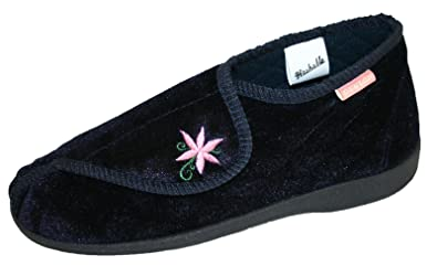 Dunlop Ladies Girls Celia Velcro Fastening Washable Adjustable Slippers  Size 38 Amazoncouk Shoes  Bags