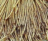 IBA IndianbeautifulartTema metálico lingotes de Oro en Bruto Purl Hacer a Mano Vestido Bordado por 3 Yard