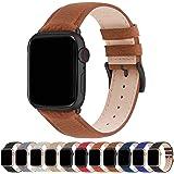 Fullmosa Compatibel Apple Watch armband 38mm 40mm 42mm 44mm, lederen band, iWatch-vervangingsband voor iWatch Serie SE/6/5/4/