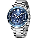 BENYAR elegante orologio da polso per uomo cinturino in acciaio inox orologio al quarzo impermeabile analogico Business…