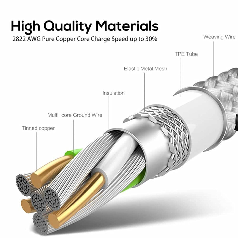 Für iPhone Kabel, superior ZRL® Metallgeflecht Draht Sync Daten ...