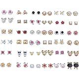 Silver Shine Multi colour Set of 36 Earrings for Women