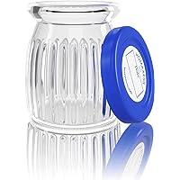 Homaxess | 6 Pots Yaourt en Verre | Compatible Toute Yaourtiere | Couvercle à Dater | Capacité 150 ML | BPA free…