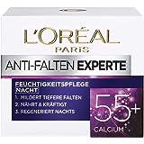 L'Oréal Paris Anti-rynk Expert Night Cream 55, anti-age fuktkräm med kalcium, minskar djupare rynkor, regenererar huden djupt