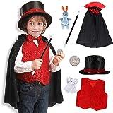 Tacobear Mago Costume Bambino Mago Accessori Travestimento Mago Costume di Ruolo Bambini per Natale Halloween Festa Carnevale