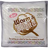 Warm Company Batting Warm and White Cotton Batting Full Size 90 x 96 Inches, 96-Inch