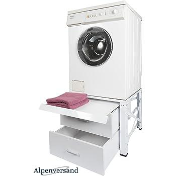Untergestell für Waschmaschine Extra Hoch mit 2 Schubladen