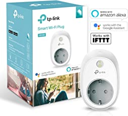 TP-Link WLAN Steckdose funktionieren mit Amazon Alexa (Echo und Echo Dot), Google Home und IFTTT, Kein Hub erforderlich, Steuern Sie Ihre Geräte von überall aus