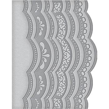 Spellbinders A2 - Stampi con bordi curvi con dettagli lavorati