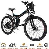 Oppikle Elektrisk cykel elektrisk cykel för vuxen 26 tum elektrisk mountainbike 250 W Ebike 21 växlar med avtagbart litiumbat